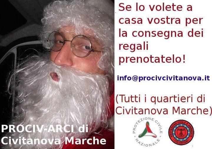Il Babbo Natale di Civitanova Marche è amico della Prociv-Arci, associazione locale di volontari affiliata alla Protezione Civile Nazionale